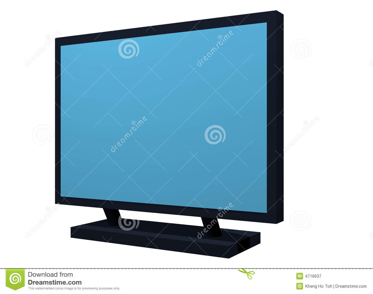 Monitor Lcd Plasma Tv Object For Diagram And Prese Stock Illustration