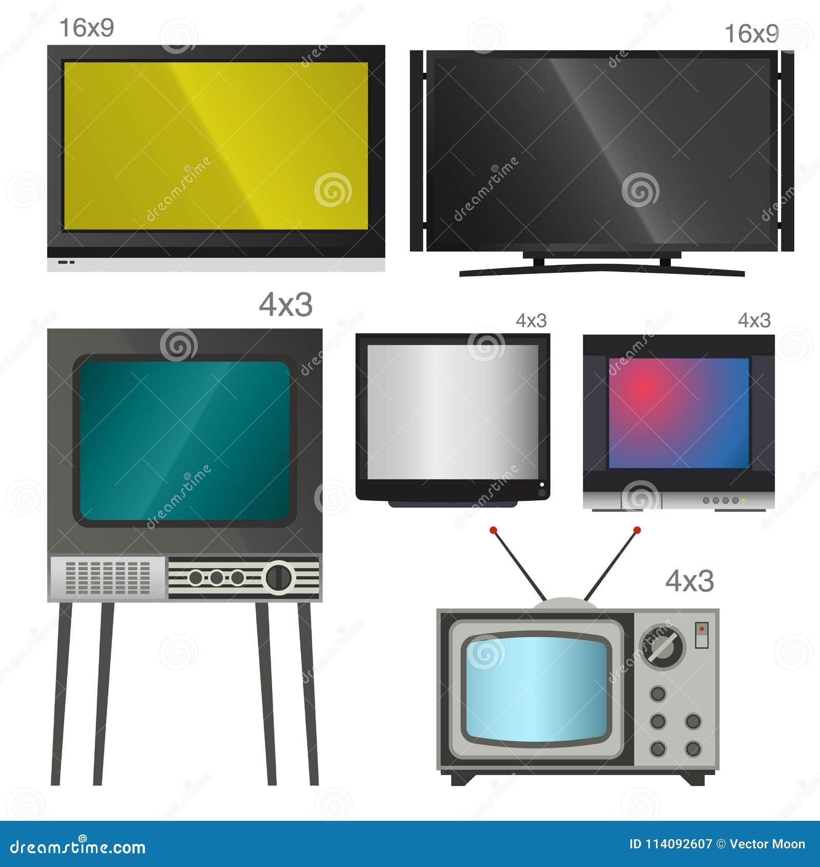Monitor LCD Y Cuaderno, Tableta, Plantillas Retras De La Pantalla ...