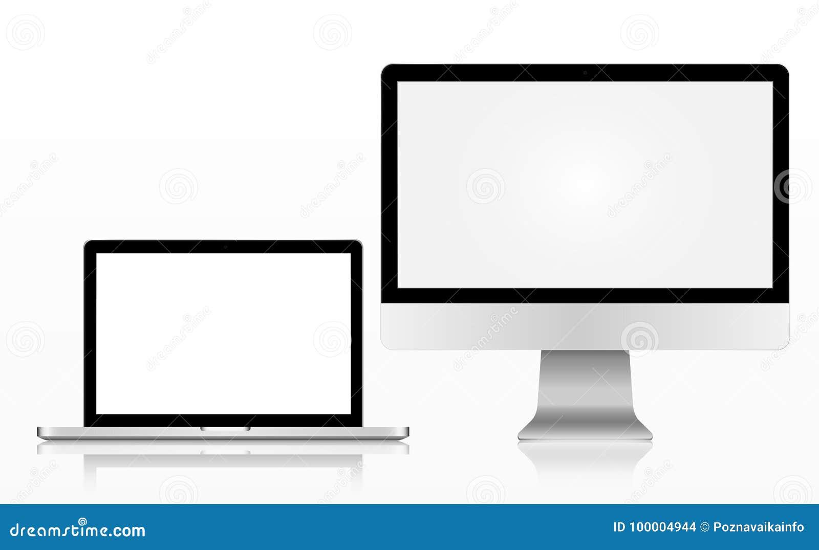 Monitor Moderno De La Tecnología Realista De La Manzana, Imac ...