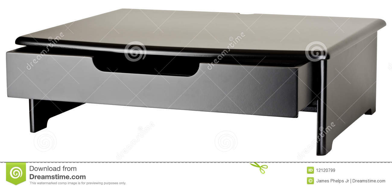 Monitor Stand With Open Drawer Royalty Free Stock Images - Image ...