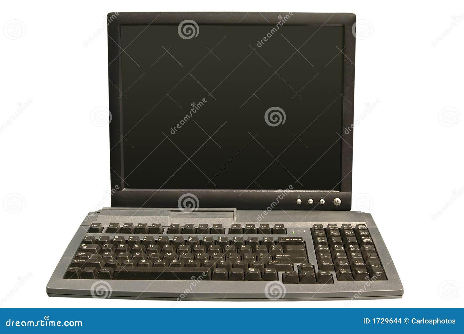 Monitor y teclado del ordenador foto de archivo imagen - Foto teclado ordenador ...