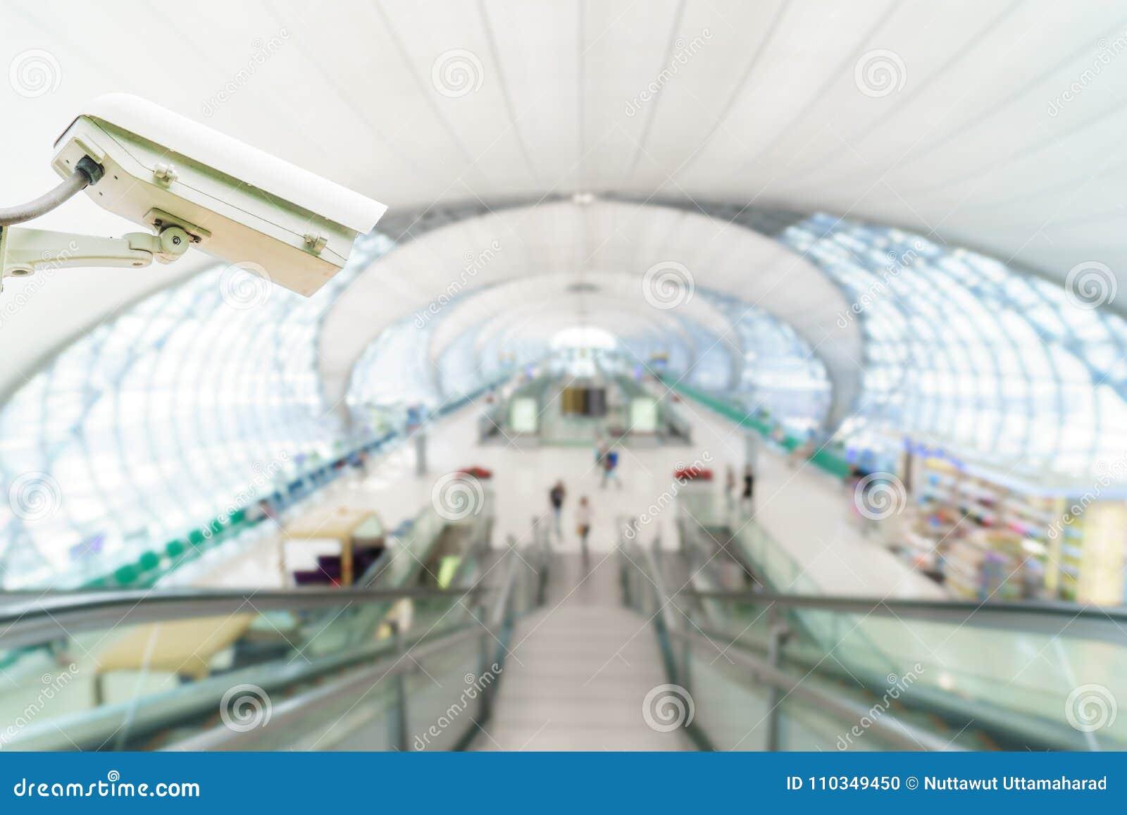 Monitoração de segurança do sistema do CCTV no aeroporto