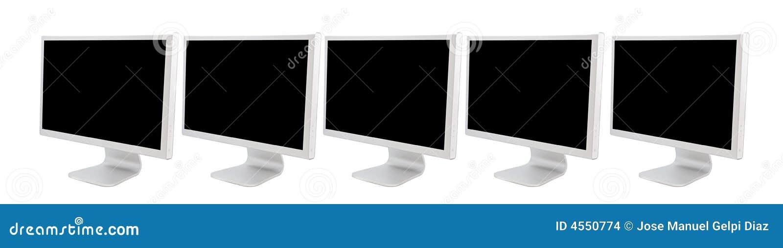 Monitors van computers