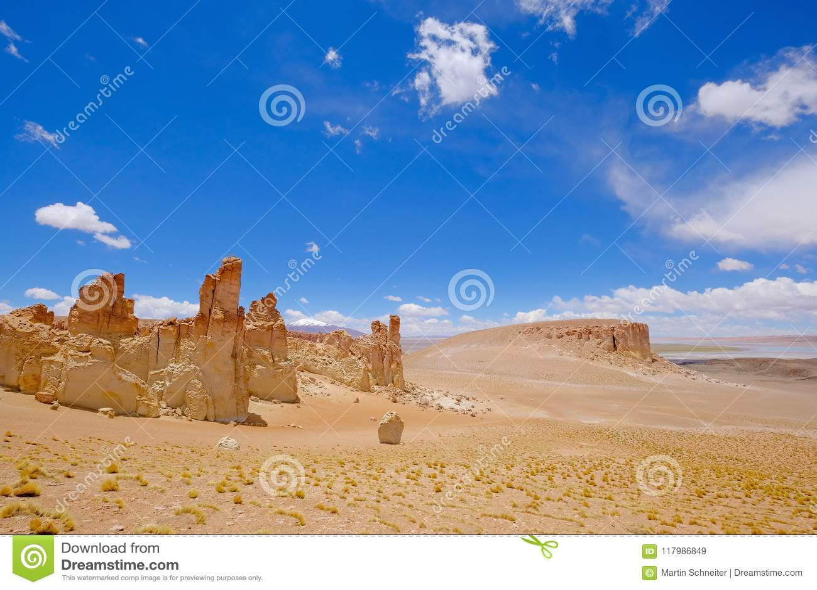 Monjes de piedra de Pacana de la formación, Monjes De La Pacana, la piedra india, cerca de Salar De Tara, reserva nacional de los