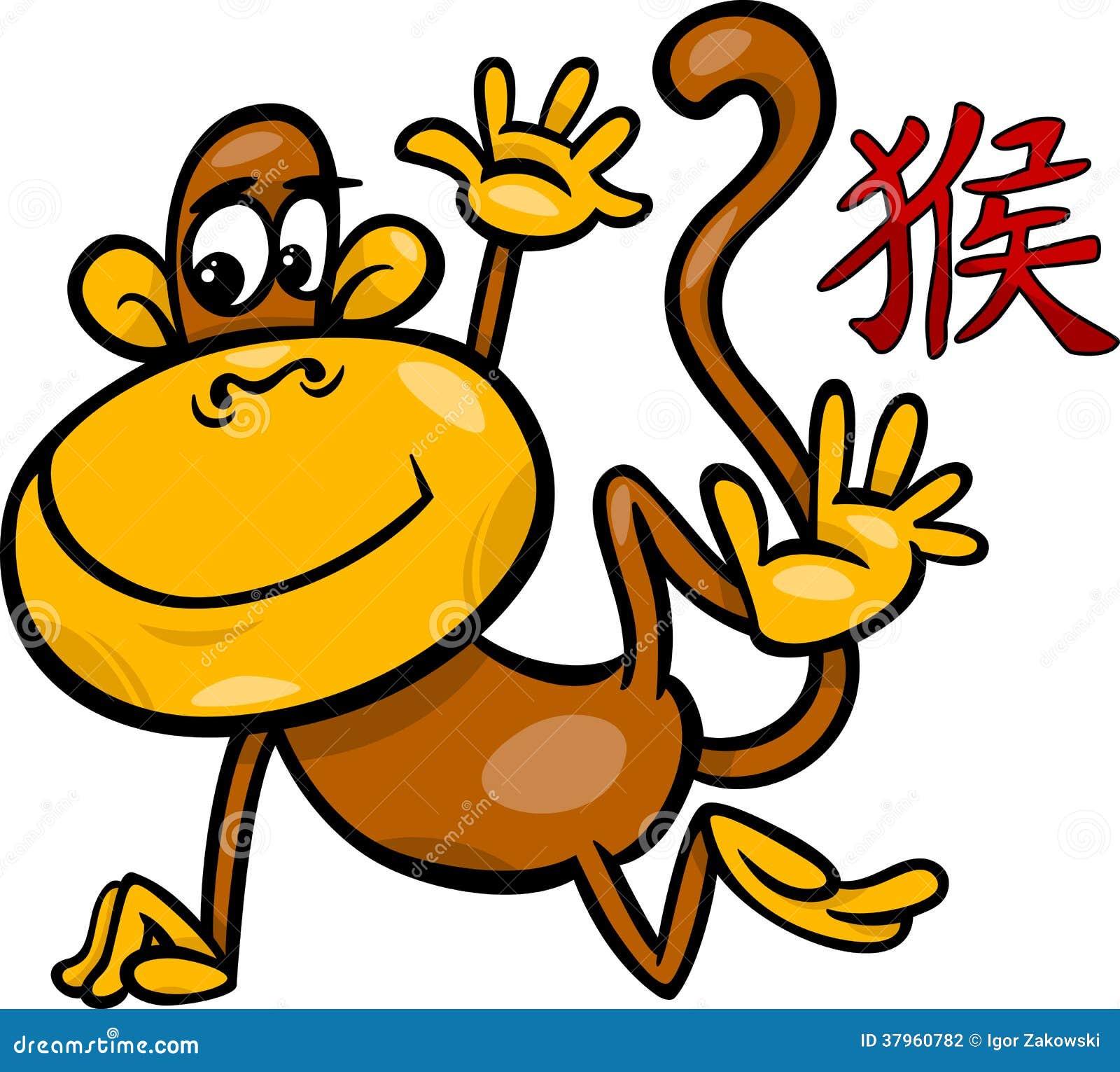 Monkey Chinese Zodiac Horoscope Sign Stock Photography - Image ...