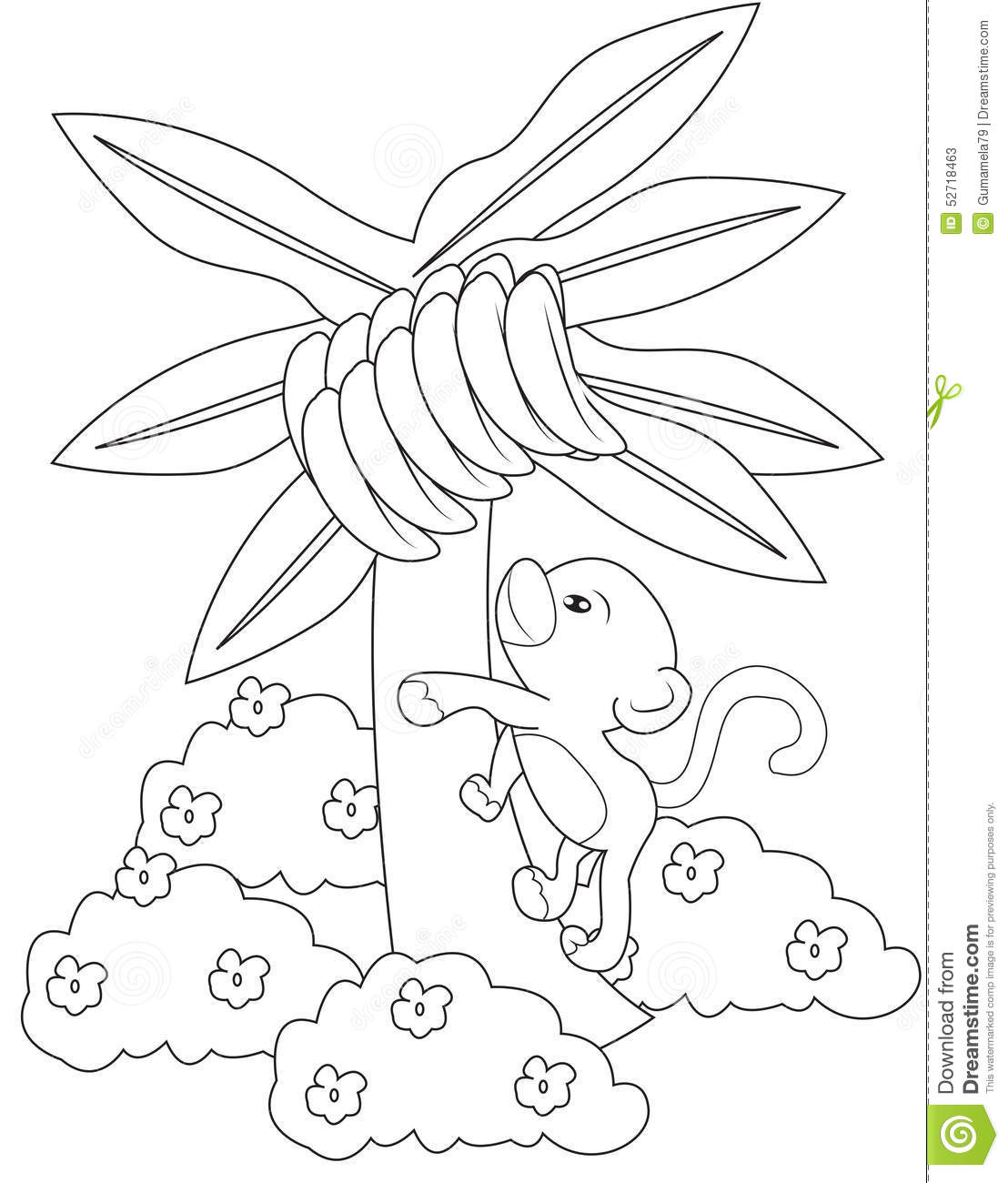 Free Coloring Pages Of Banana Tree