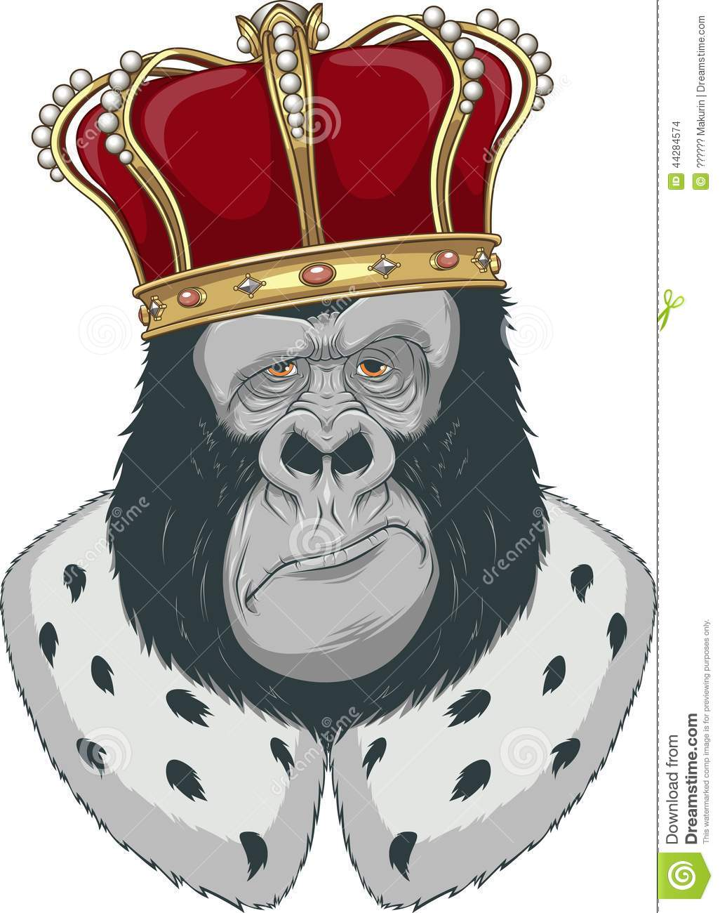 monkey in a crown stock vector  illustration of africa