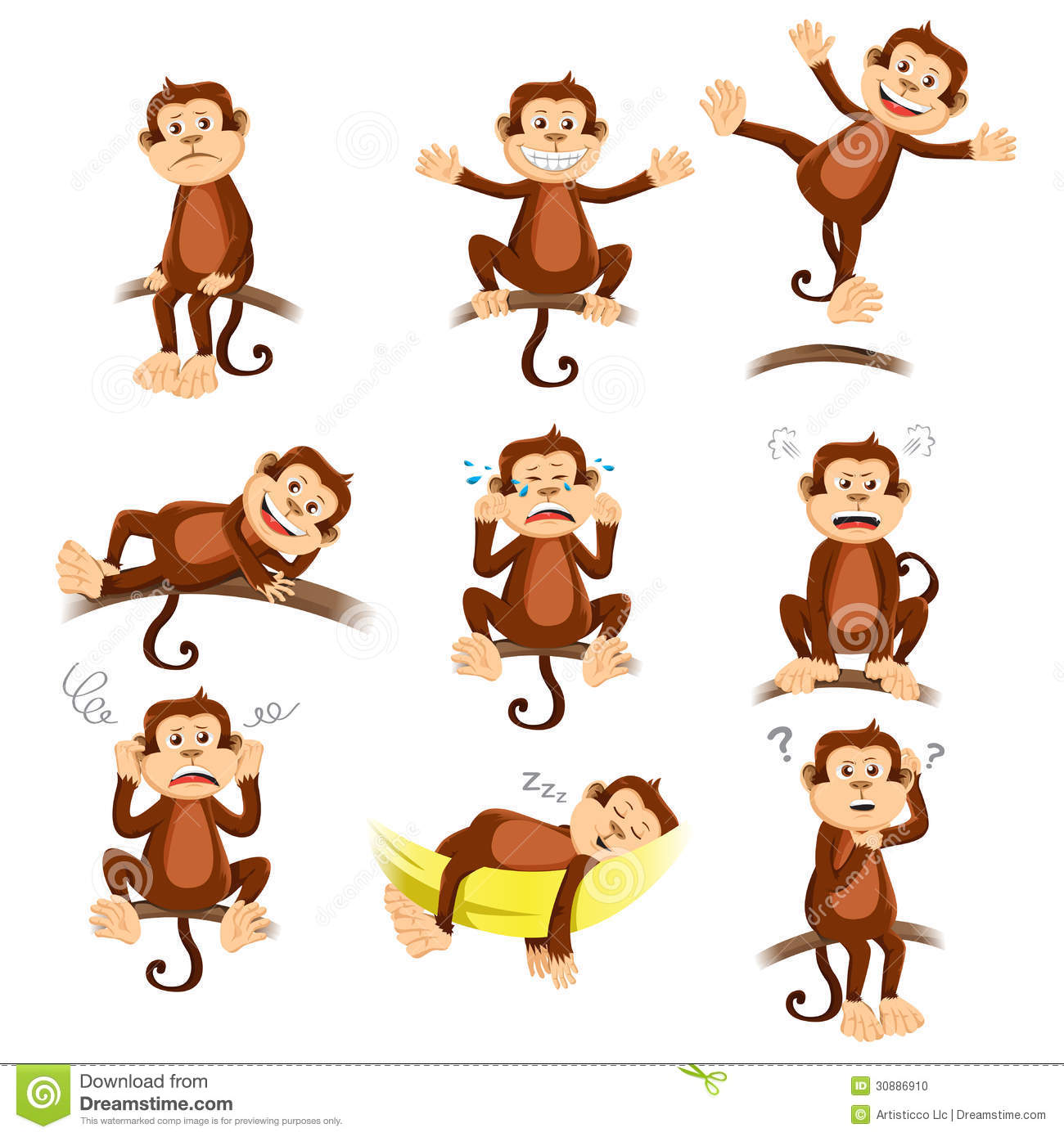 monkey with different expression stock vector chimpanzee clip art to color chimpanzee clipart black and white