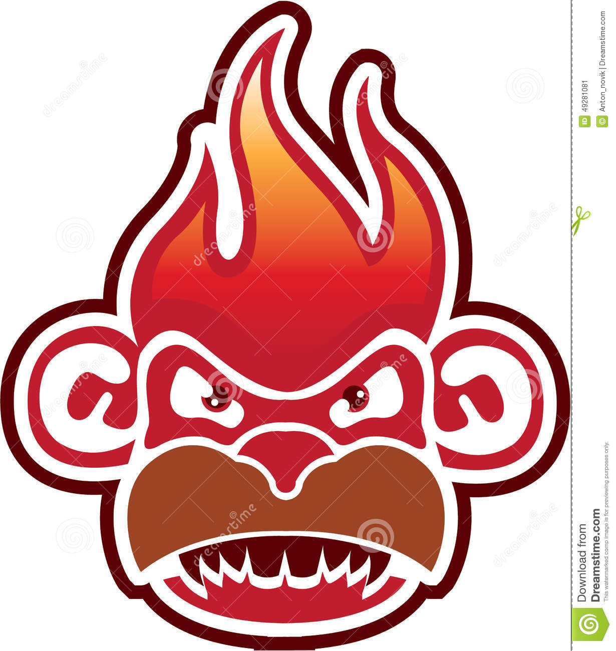 monkey face logo vector stock vector image 49281081
