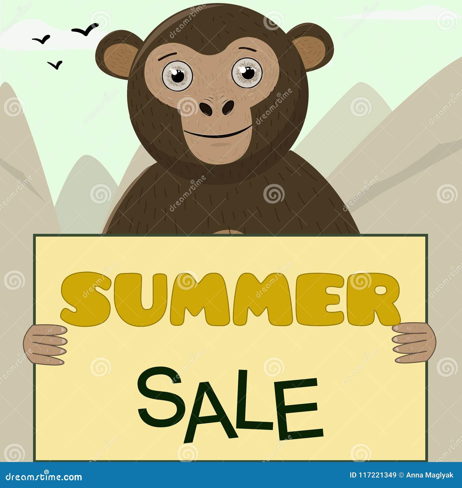 Monkey gráficos bonitos dos personagens de banda desenhada bonitos dos gráficos do t-shirt para a venda das crianças