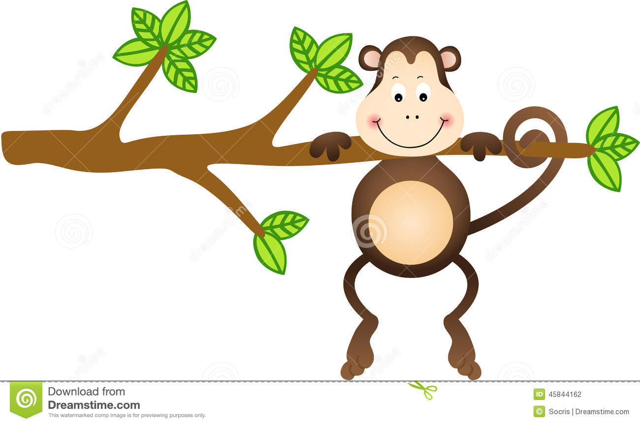 clipart monkey hanging from tree - photo #23