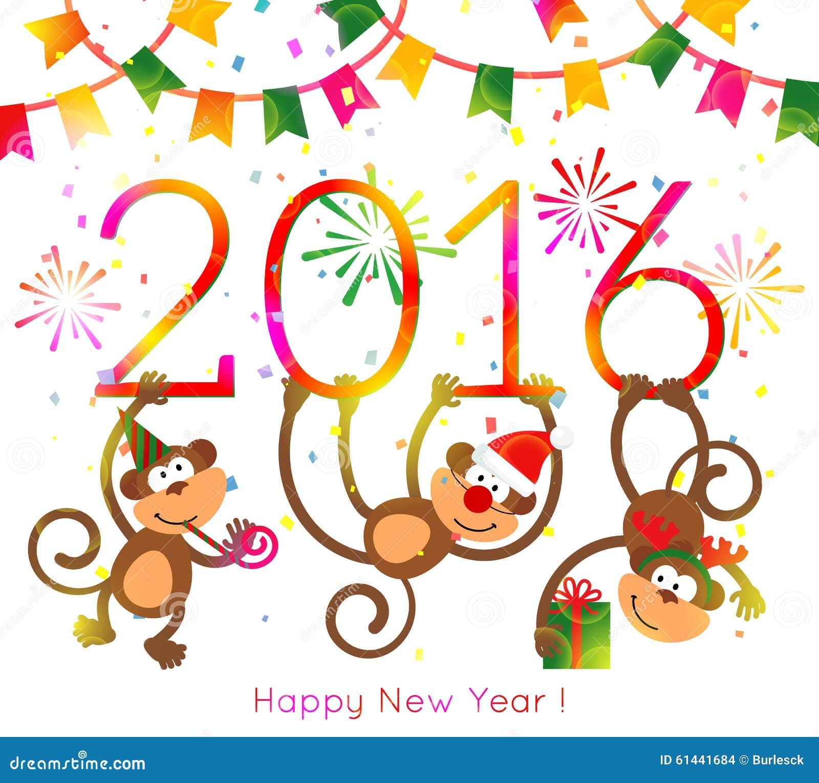 Картинки на новый год на год обезьяны 2017