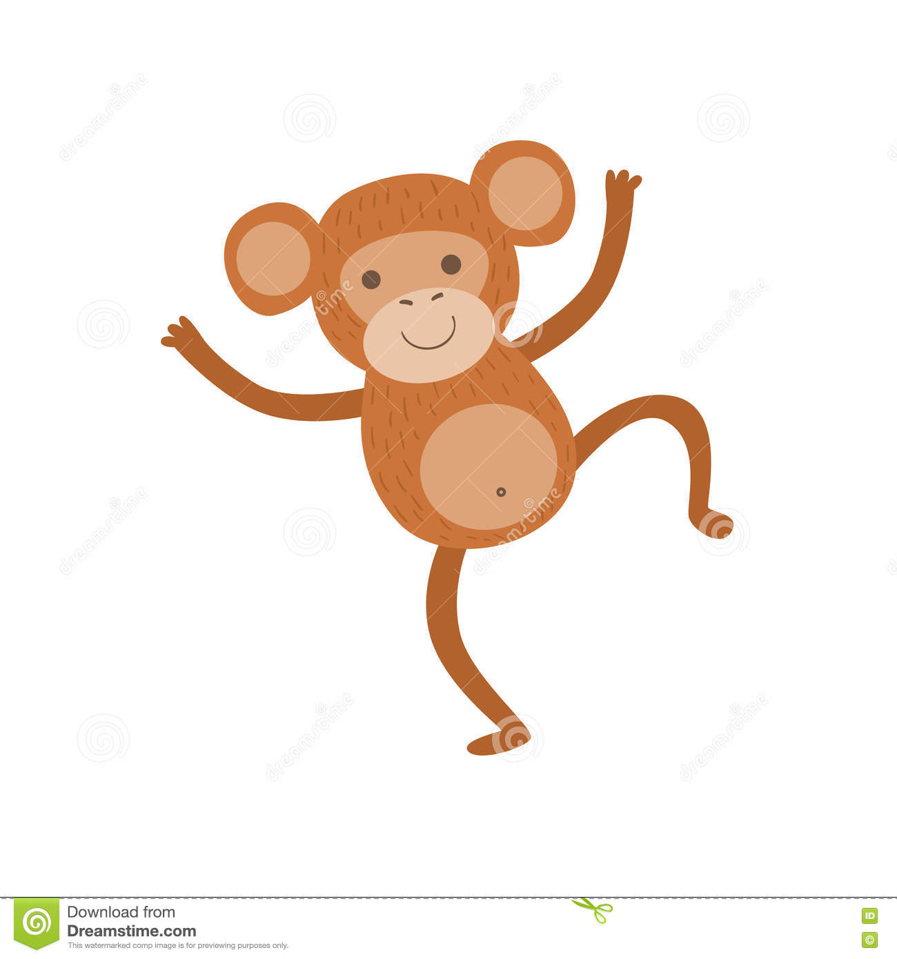 25bb1242a Monkey Stylized Childish Drawing Stock Vector - Illustration of ...
