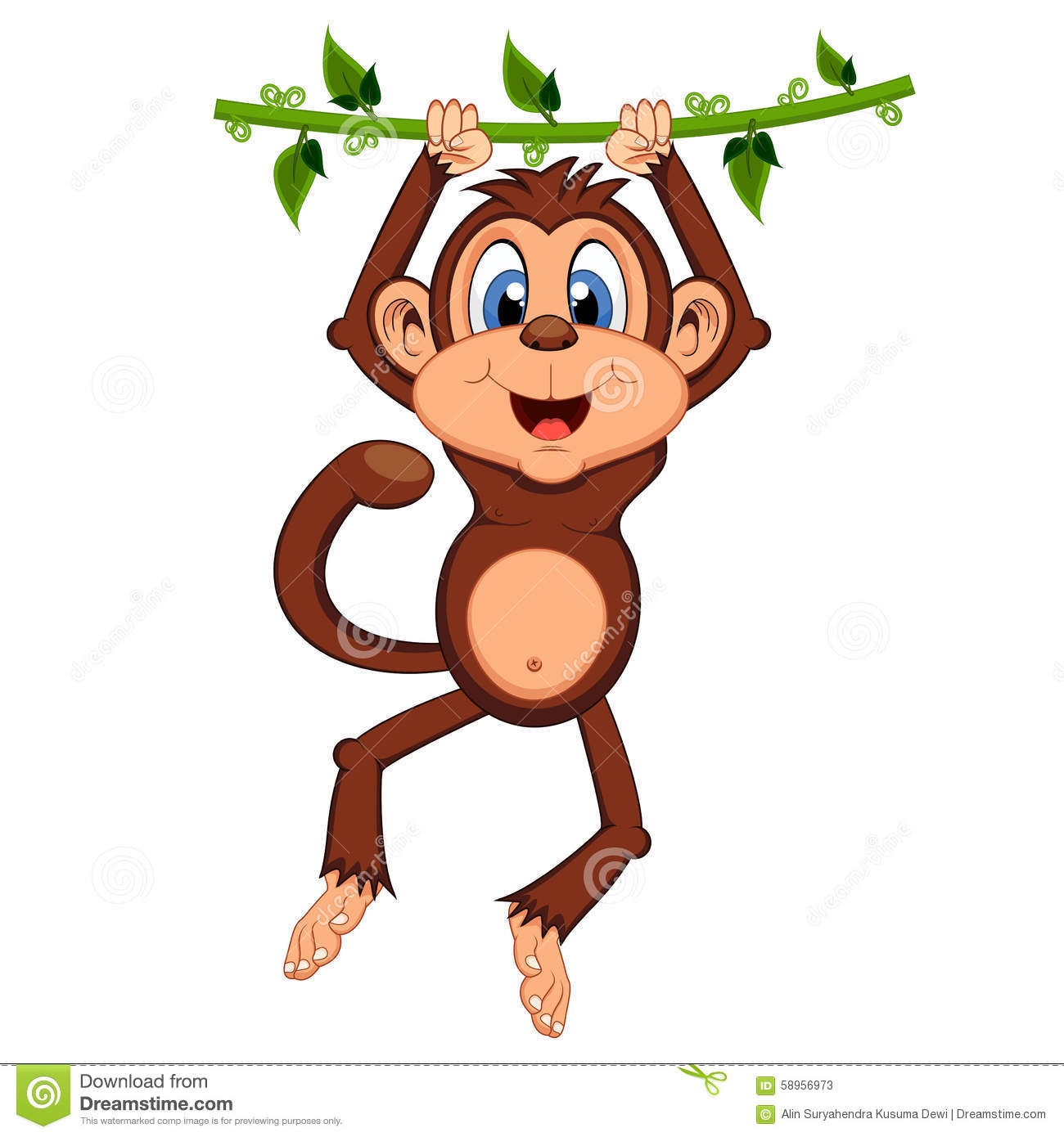 Monkey picture swinging