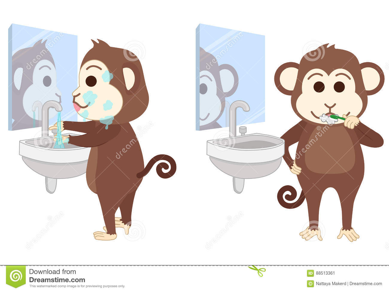 Looking Bathroom Mirror Stock Illustrations 116 Looking Bathroom