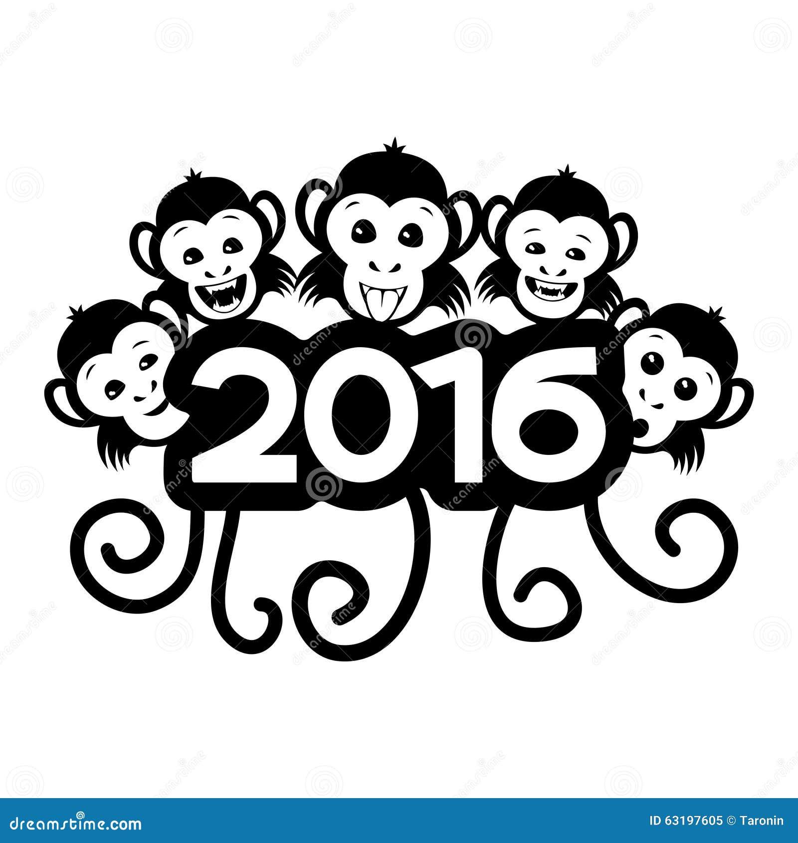 Monkey the zodiac symbol of new year stock vector illustration monkey the zodiac symbol of new year buycottarizona Images