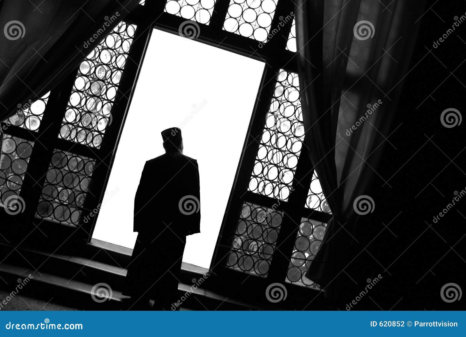 Monnik bij Venster