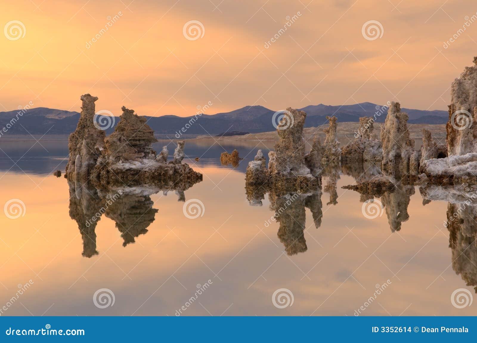 Mono lago sunset