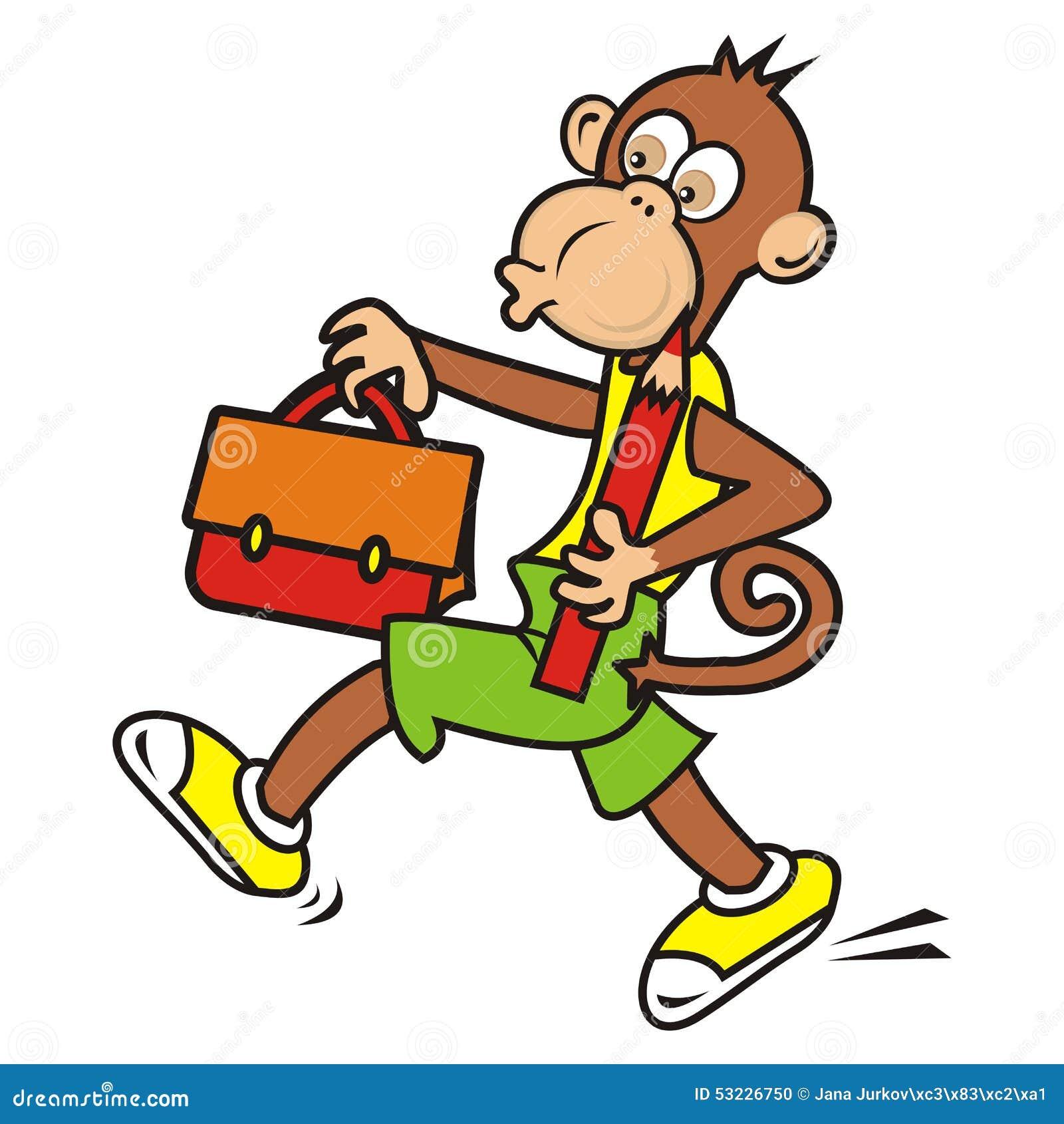 Mono y cartera