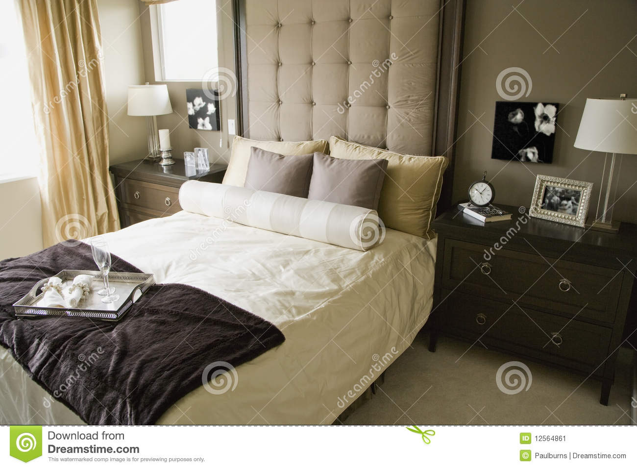 Monochromatic bedroom stock image image of design for Monochromatic bedroom designs