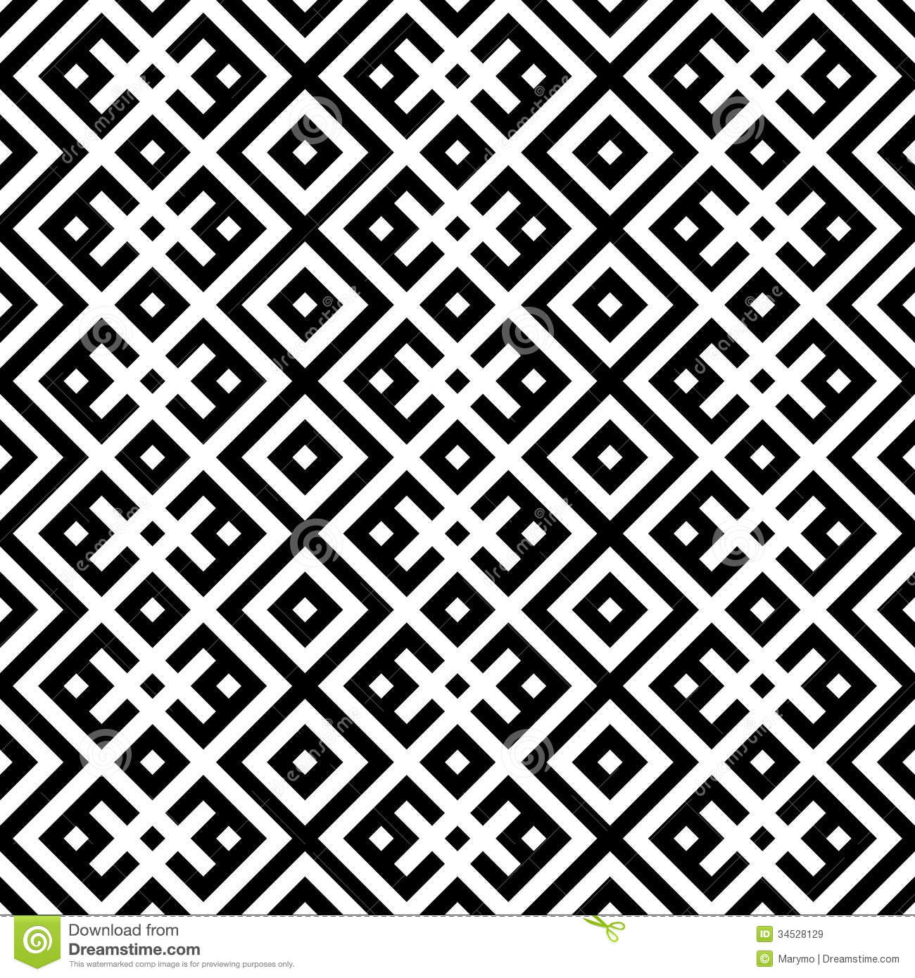 Monochromatic Ethnic Seamless Background. Royalty Free Stock Images