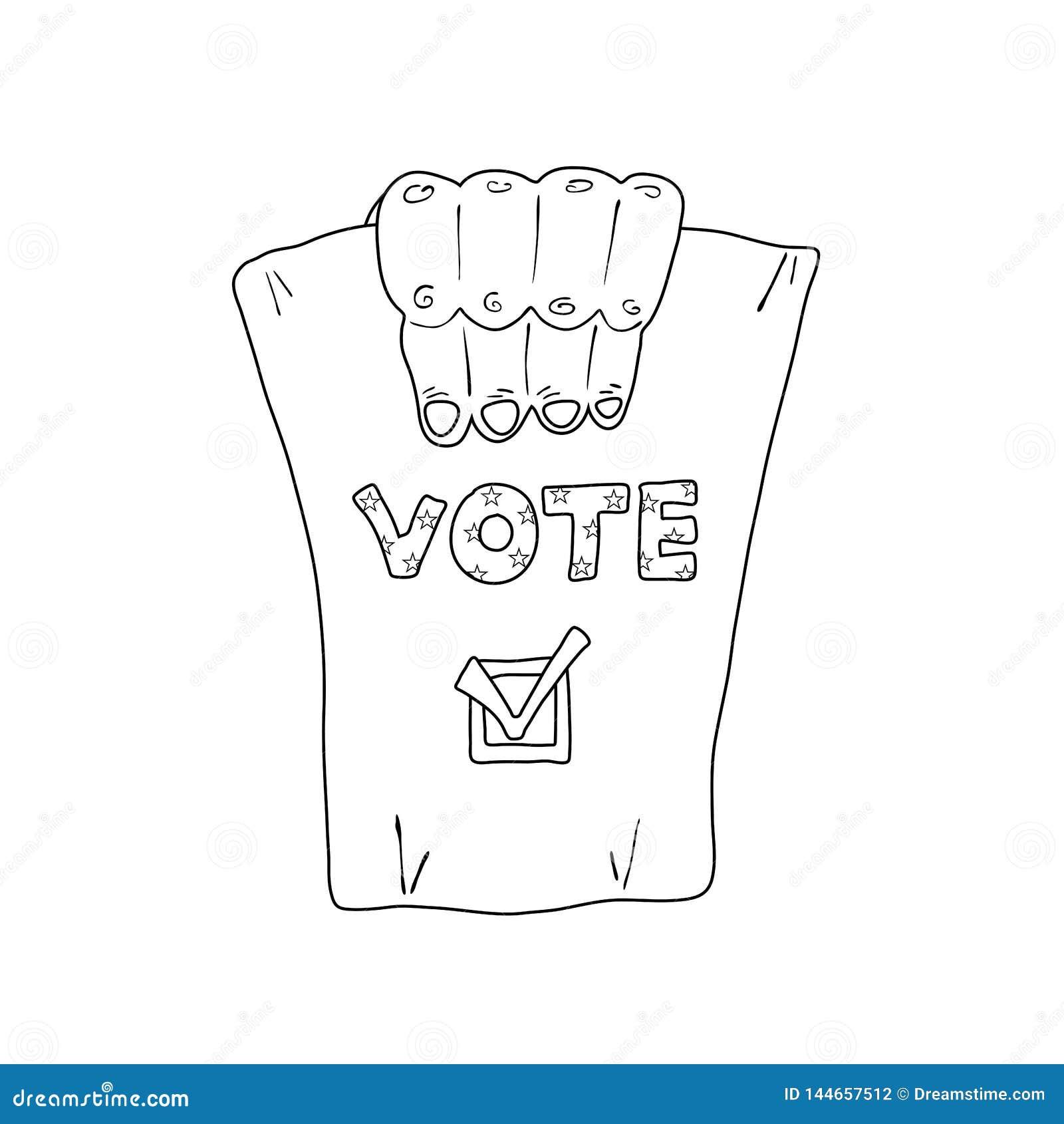 Monochromatyczna ilustracja o USA wyborach