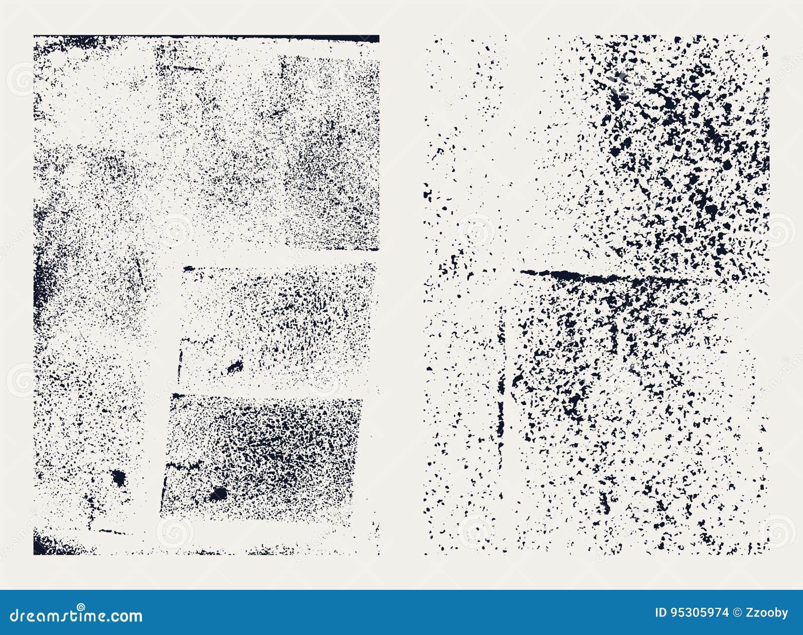 Monochromatyczne abstrakcjonistyczne wektorowe grunge tekstury Set ręki rysować plamy