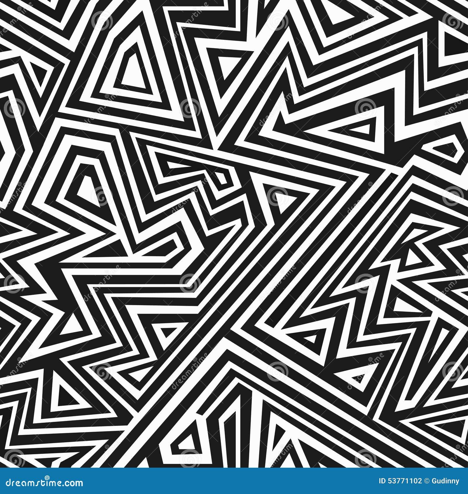 Monochromatyczny aztec bezszwowy wzór