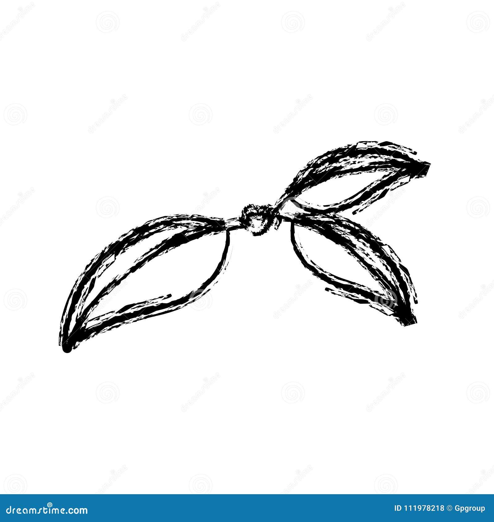 Monochrome запачкал силуэт 3 листьев вишни с стержнем