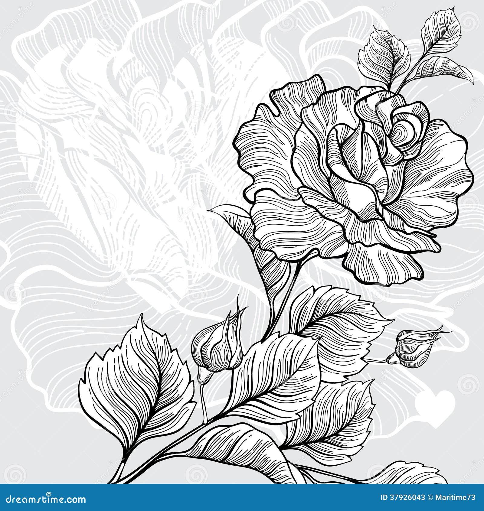 Monochrome поздравительная открытка приглашения или с розовой и сердцем.