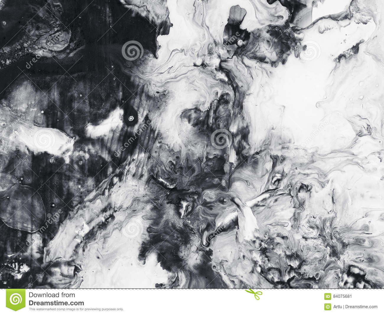 Monochrome Abstract Art Background Texture Painting Stock