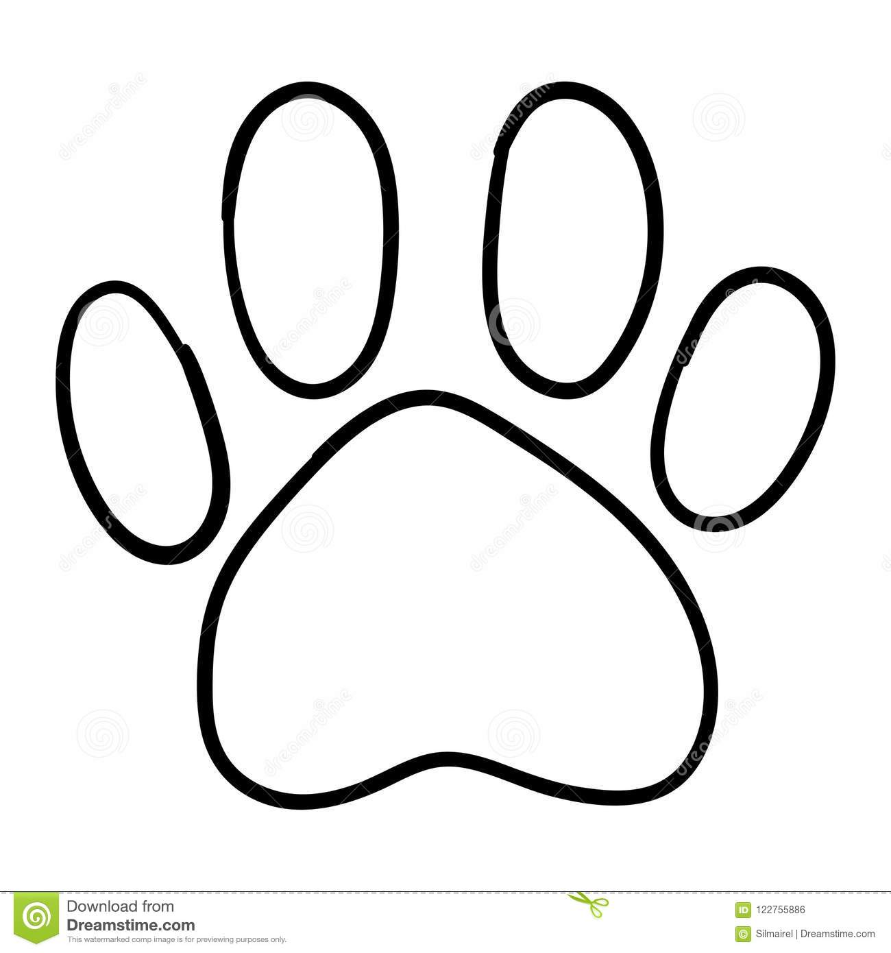 Monochrome Black And White Dog Cat Pet Animal Paw Foot Isolated Hand