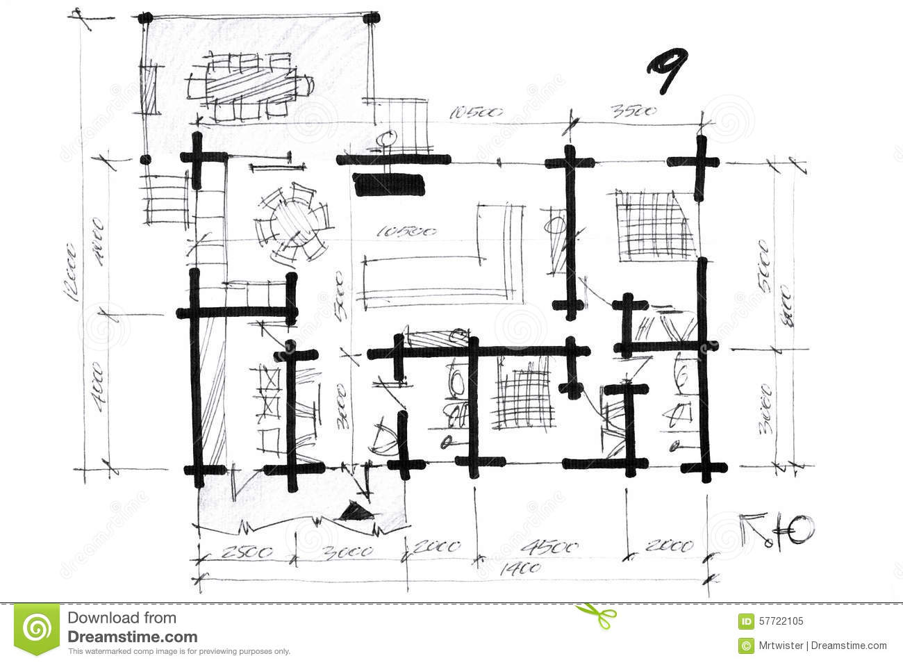 House layout sketch