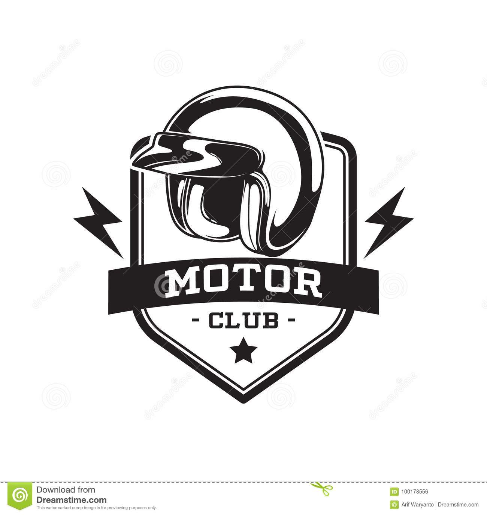 MONOCHROME MOTOR CLUB EMBLEM