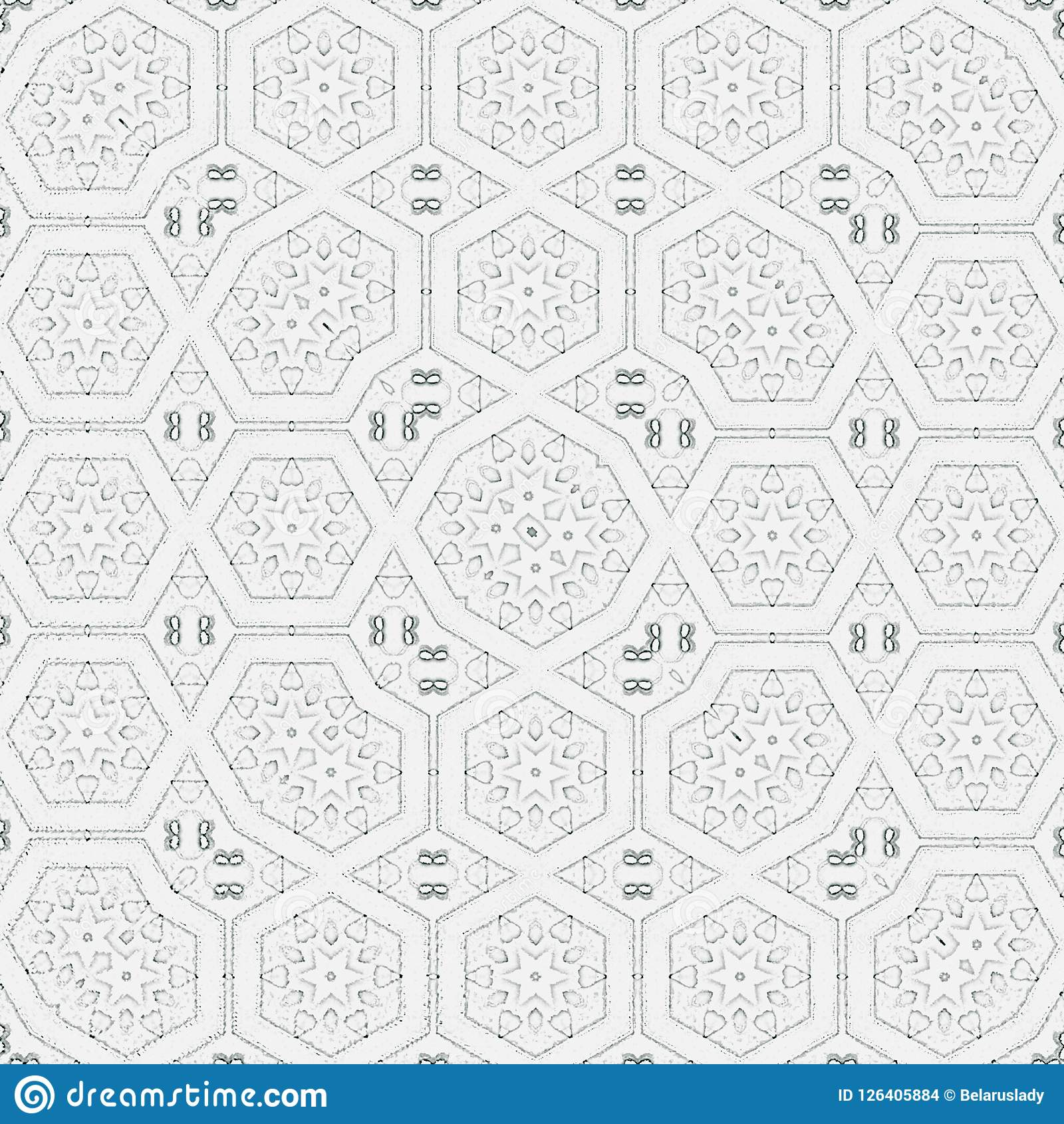 Monochrome Pattern For Print Of Rug, Carpet Or Coloring Book ...