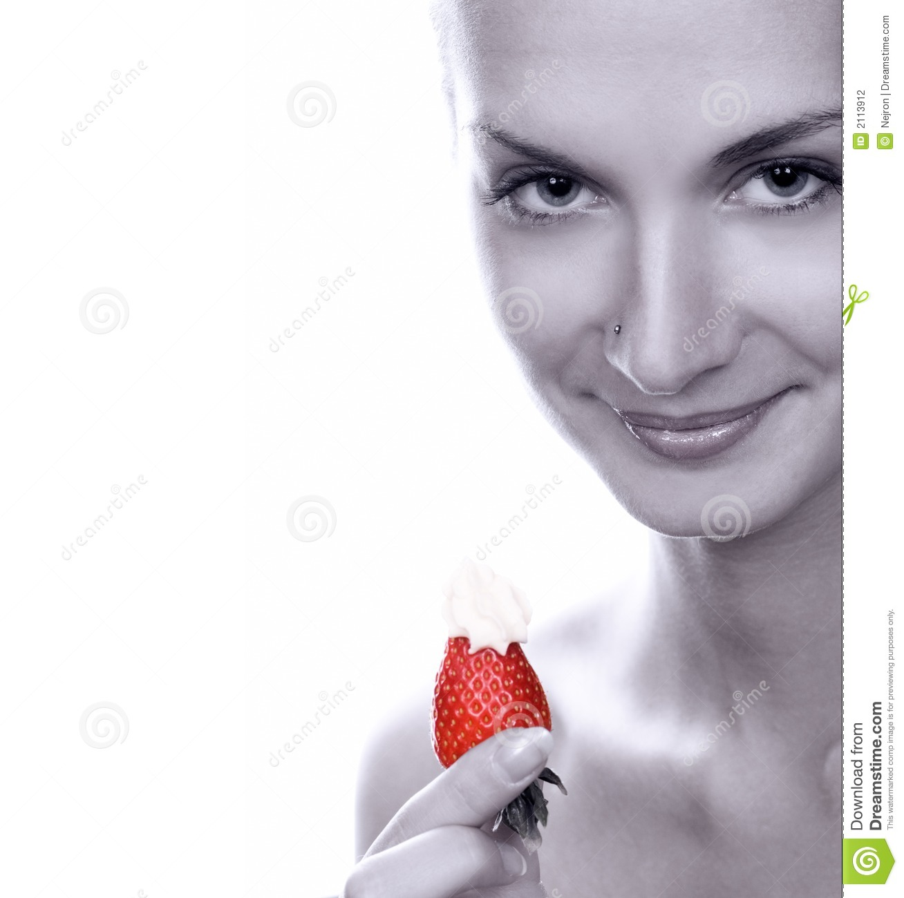 Jooker Lai Lai Lai Audio Theem Downlod: Monochrome Picture Of Young Girl With Juicy Strawberry