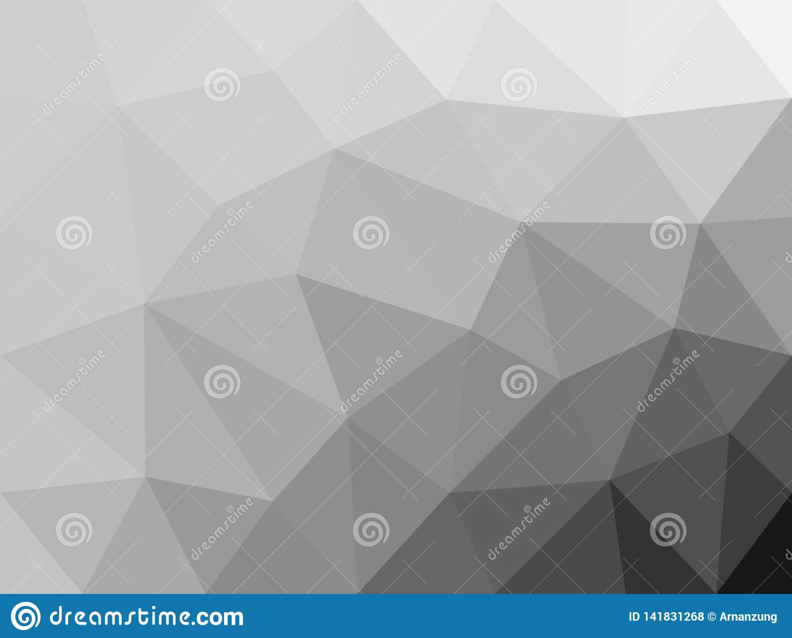 Monochrome polygon abstract background.