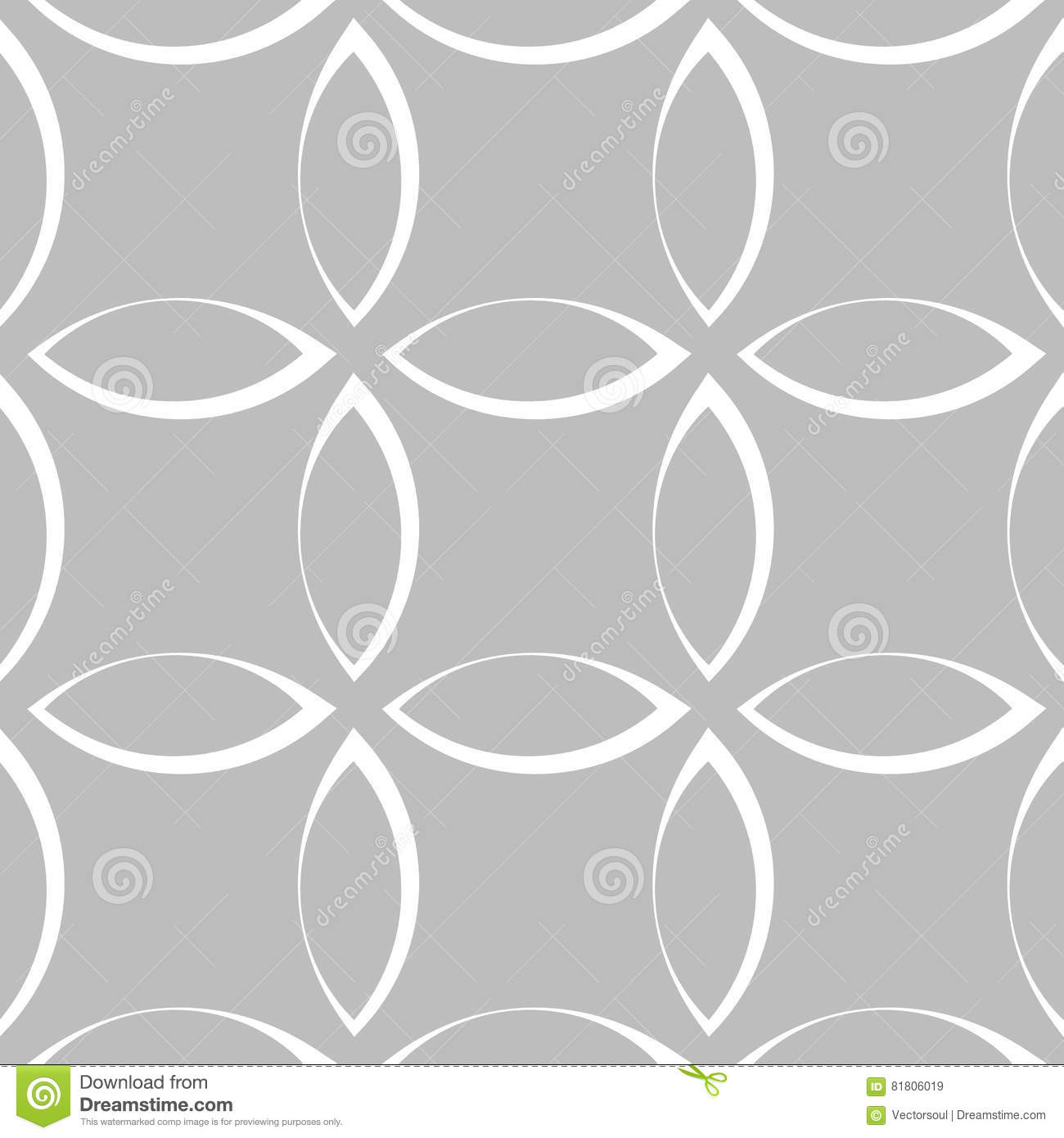 Monochrome repetitive pattern with petal / flower / leaf shapes.