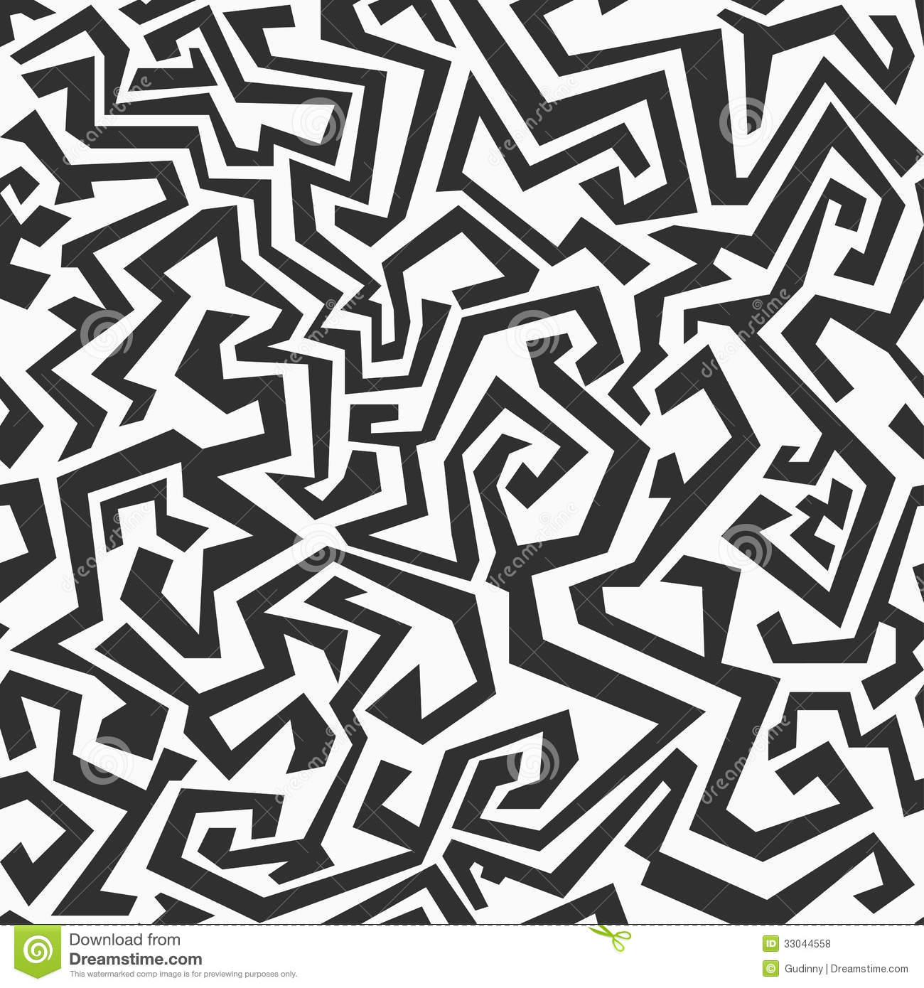 Black And White Photography Pattern : Monochrome seamless maze pattern royalty free stock photos