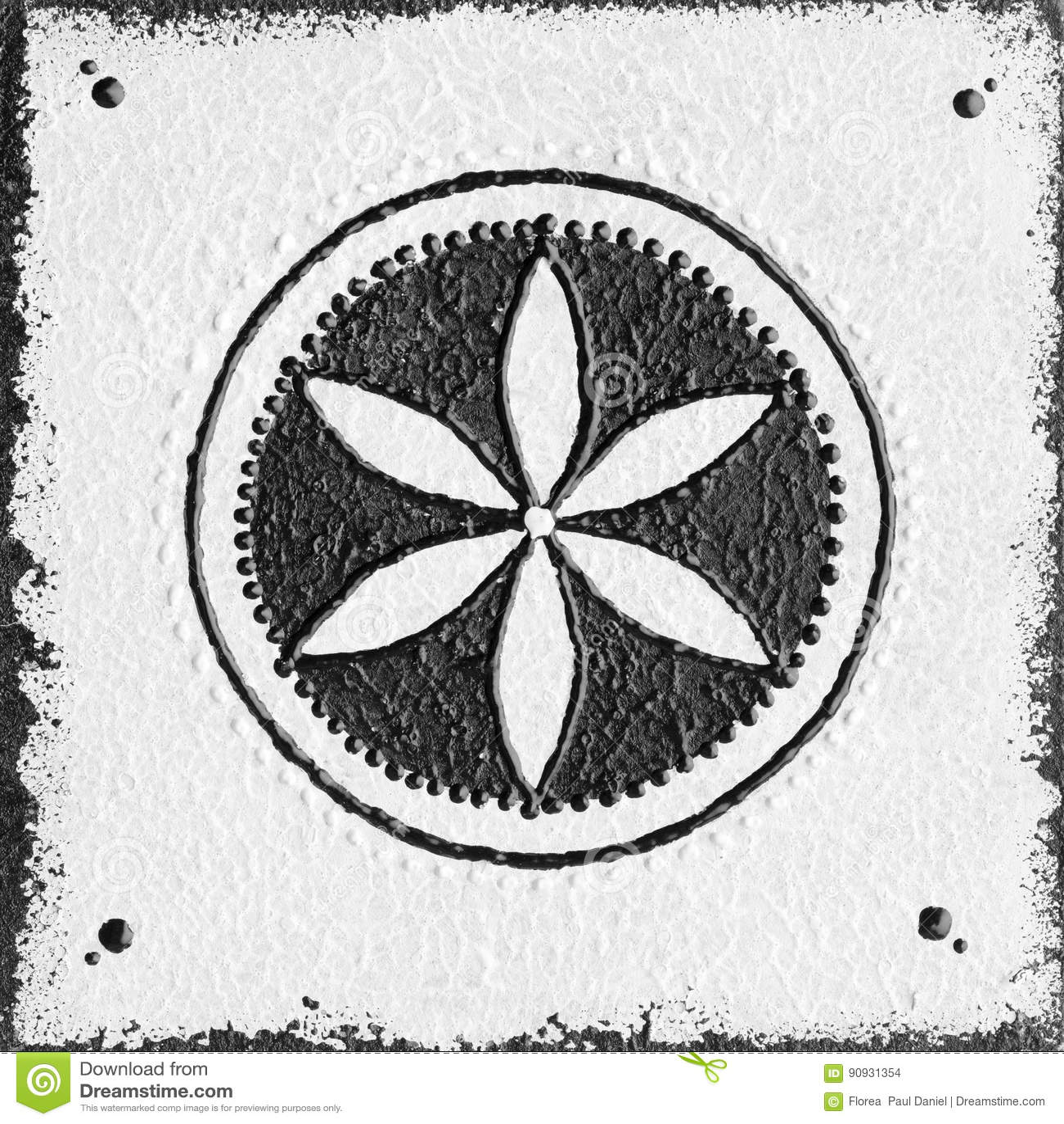 Monochrome Seed Of Life Symbol Stock Photo - Image of