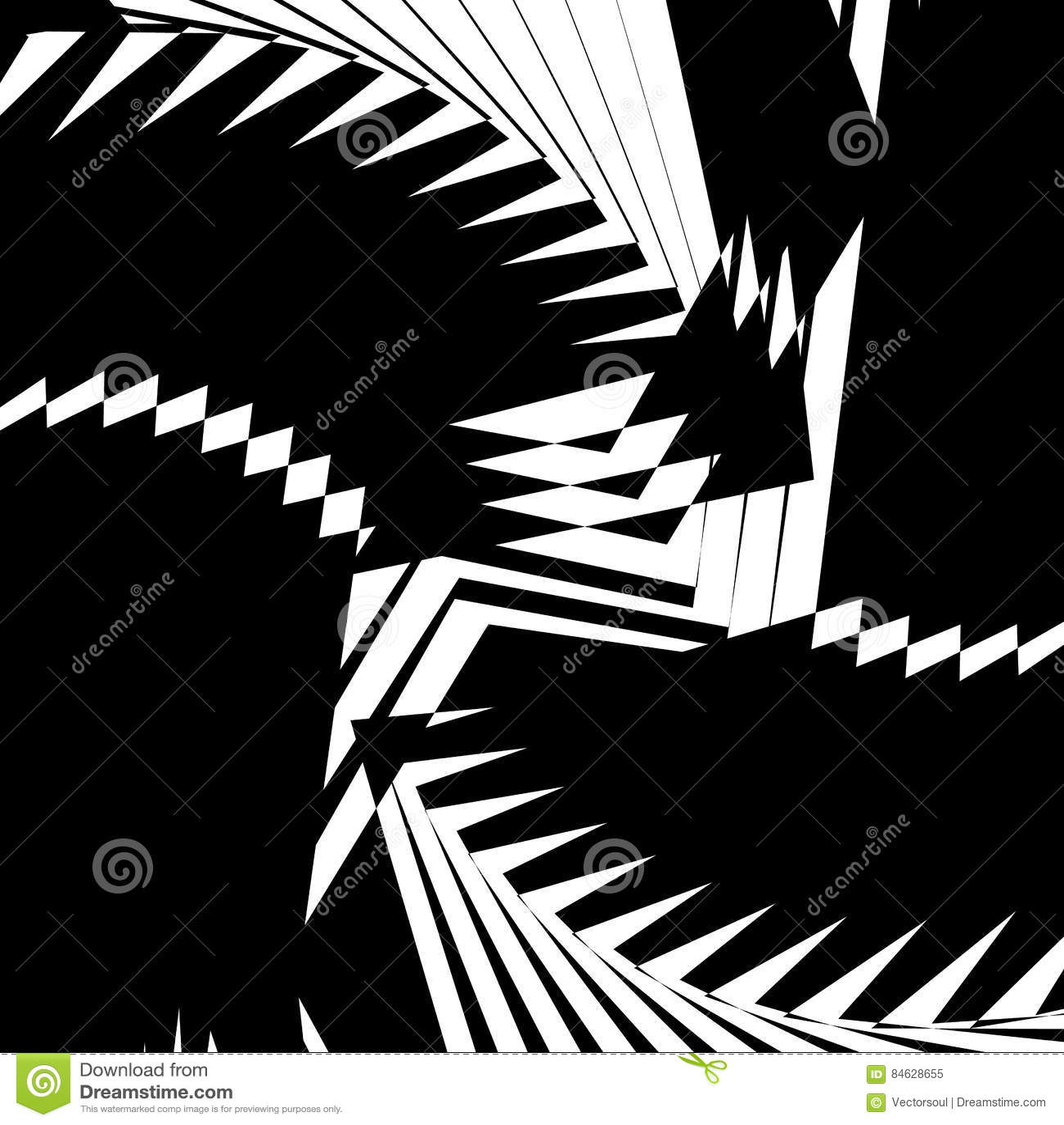 Monochrome texture, monochrome pattern with random shapes lines