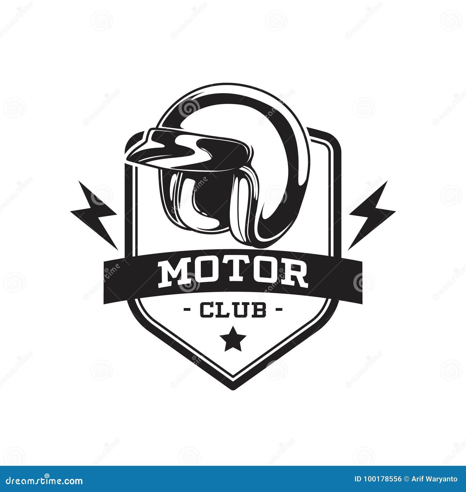 MONOCHROMU silnika klubu emblemat