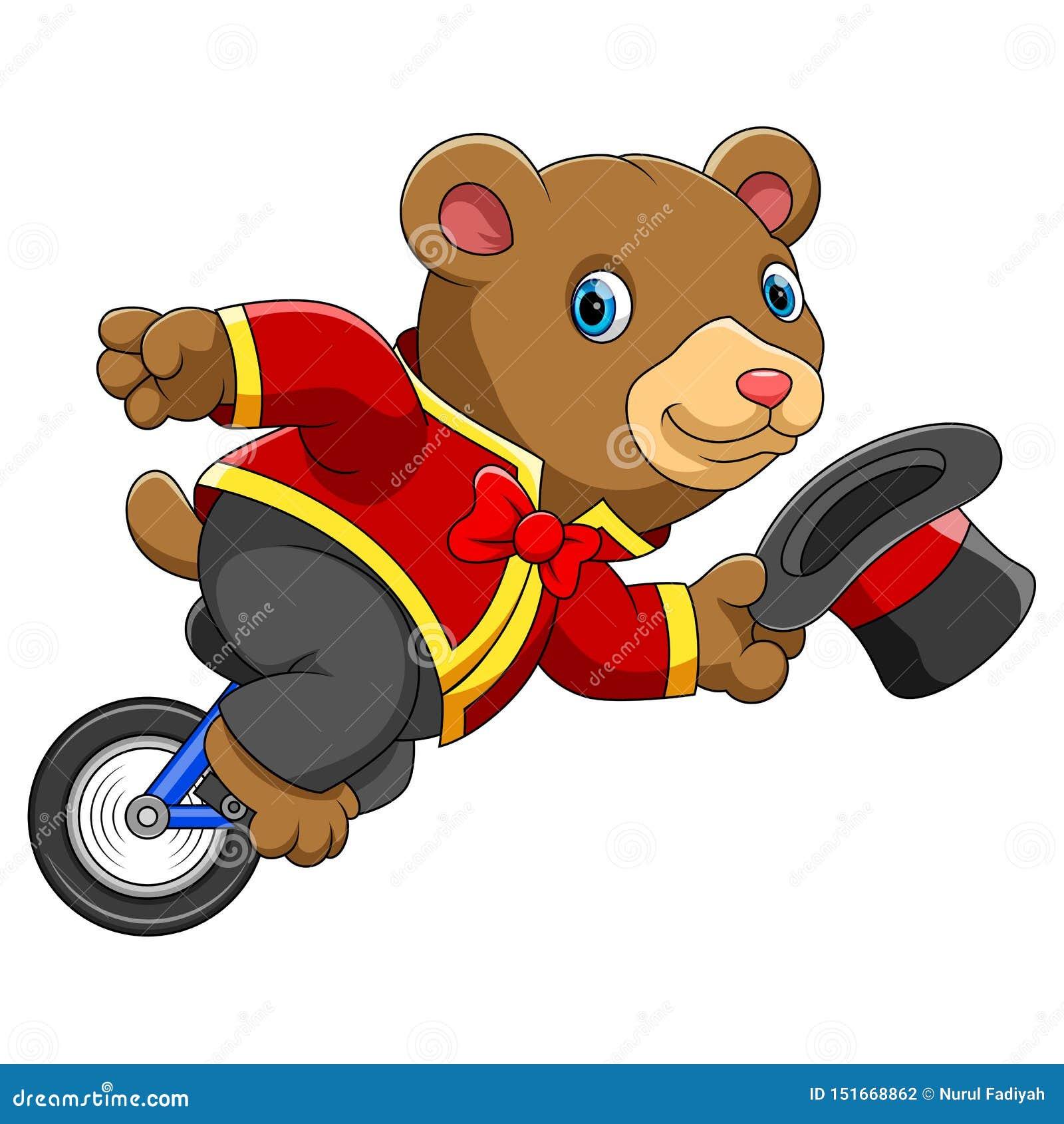 Monociclo di guida dell orso del circo