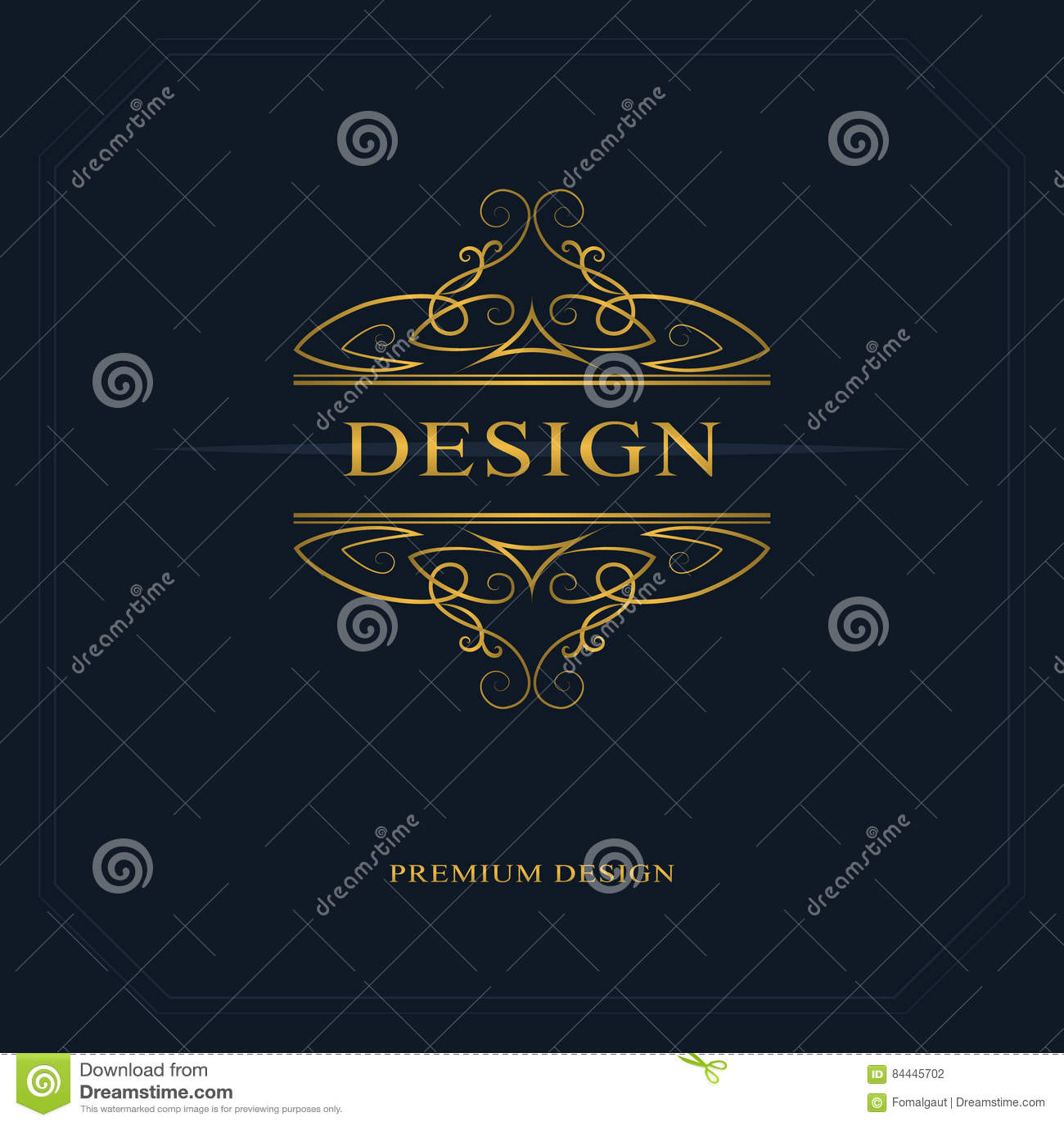 Line Art Logo Design : Monogram design elements graceful template calligraphic