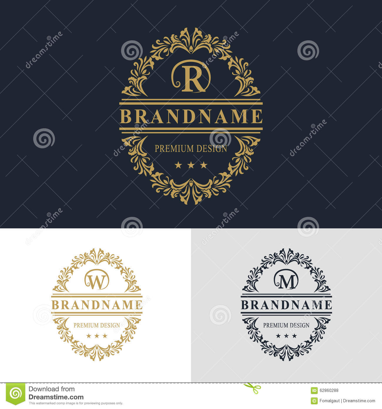 monogram design elements  graceful template  calligraphic elegant line art logo design  letter