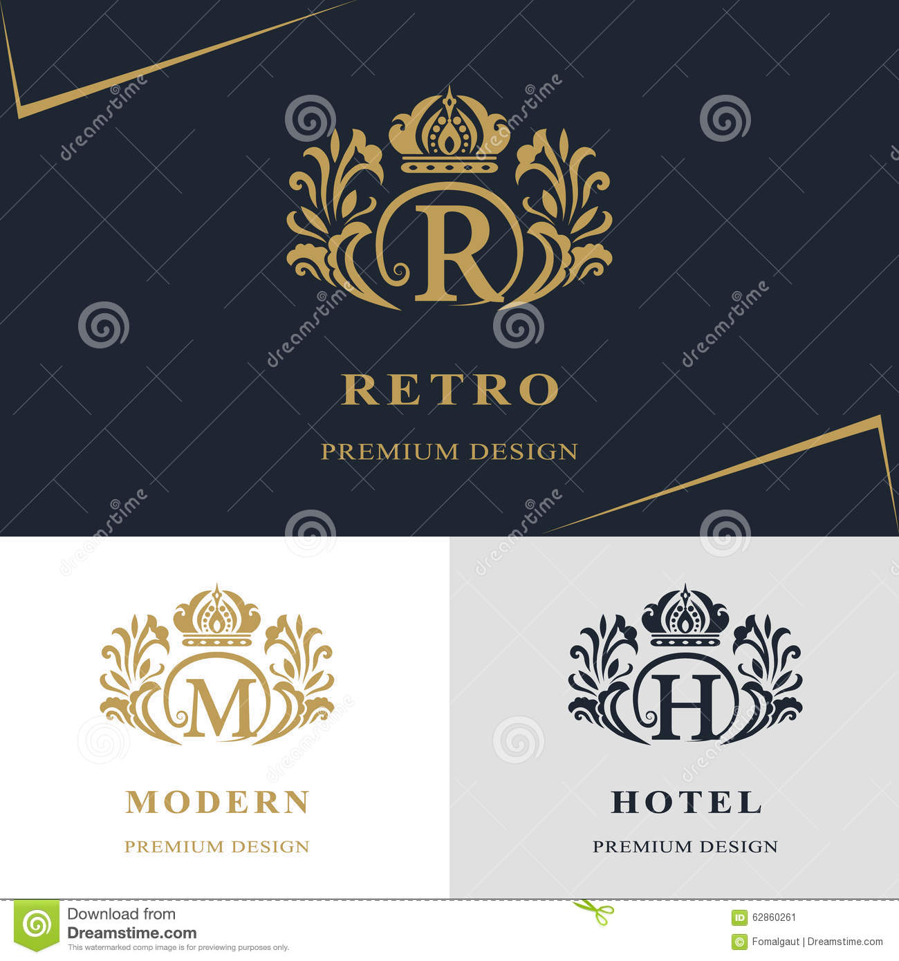Download Monogram Design Elements Graceful Template Calligraphic Elegant Line Art Logo Letter