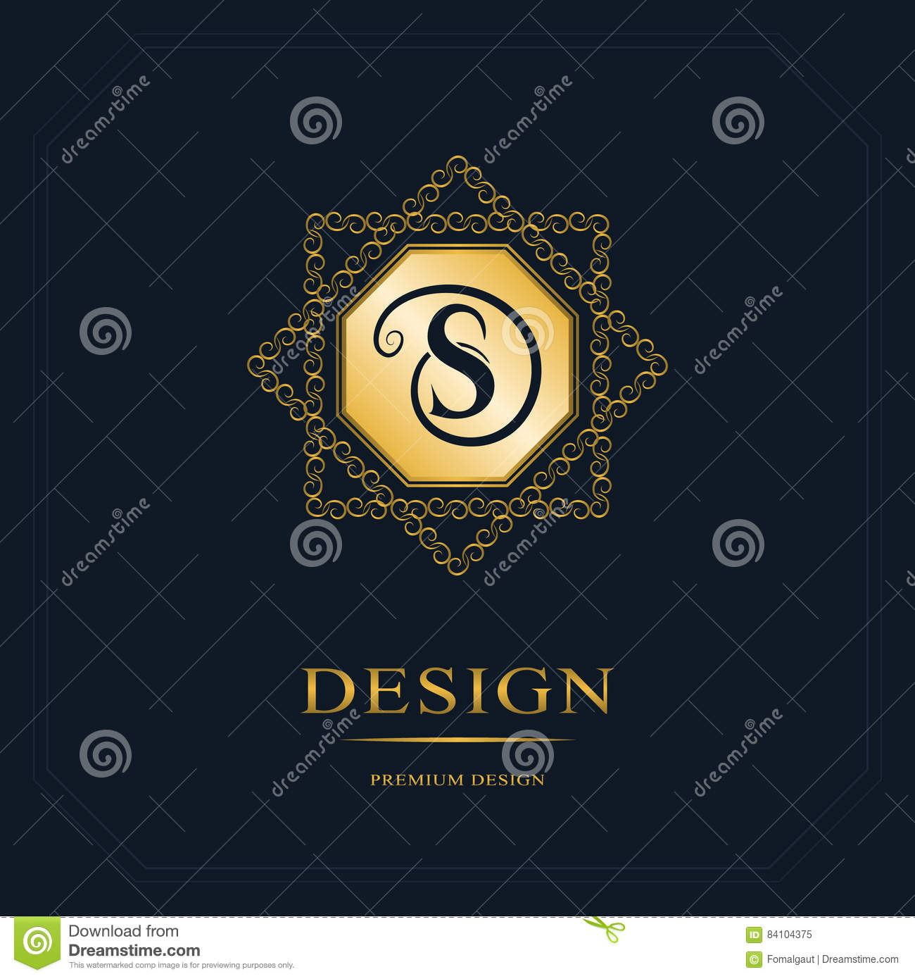 Monogram Design Elements Graceful Template Calligraphic