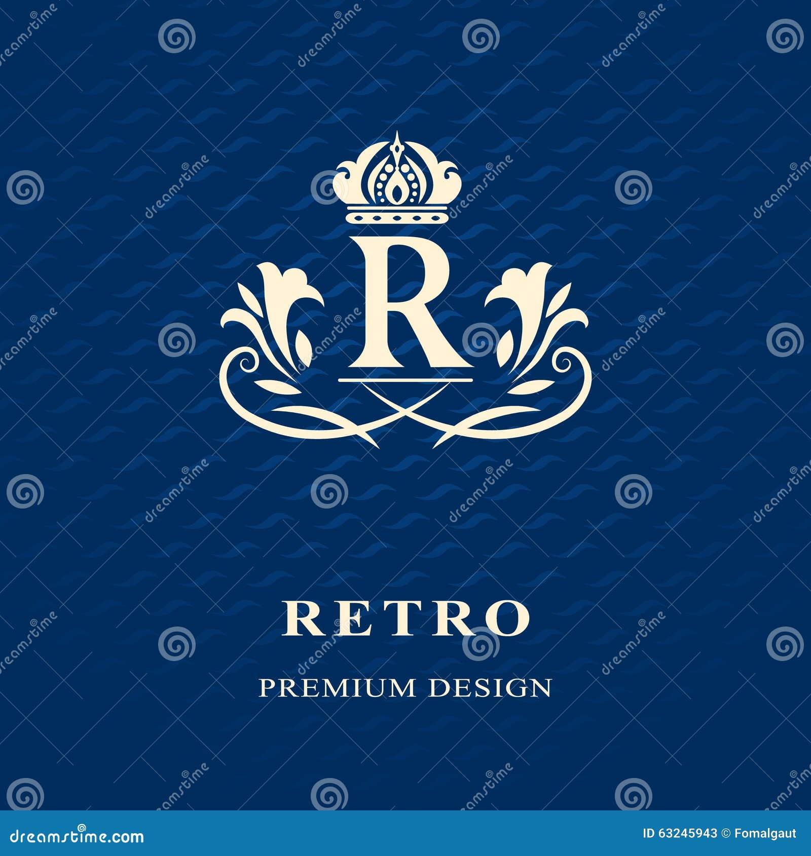 Elements graceful template calligraphic elegant line art logo design