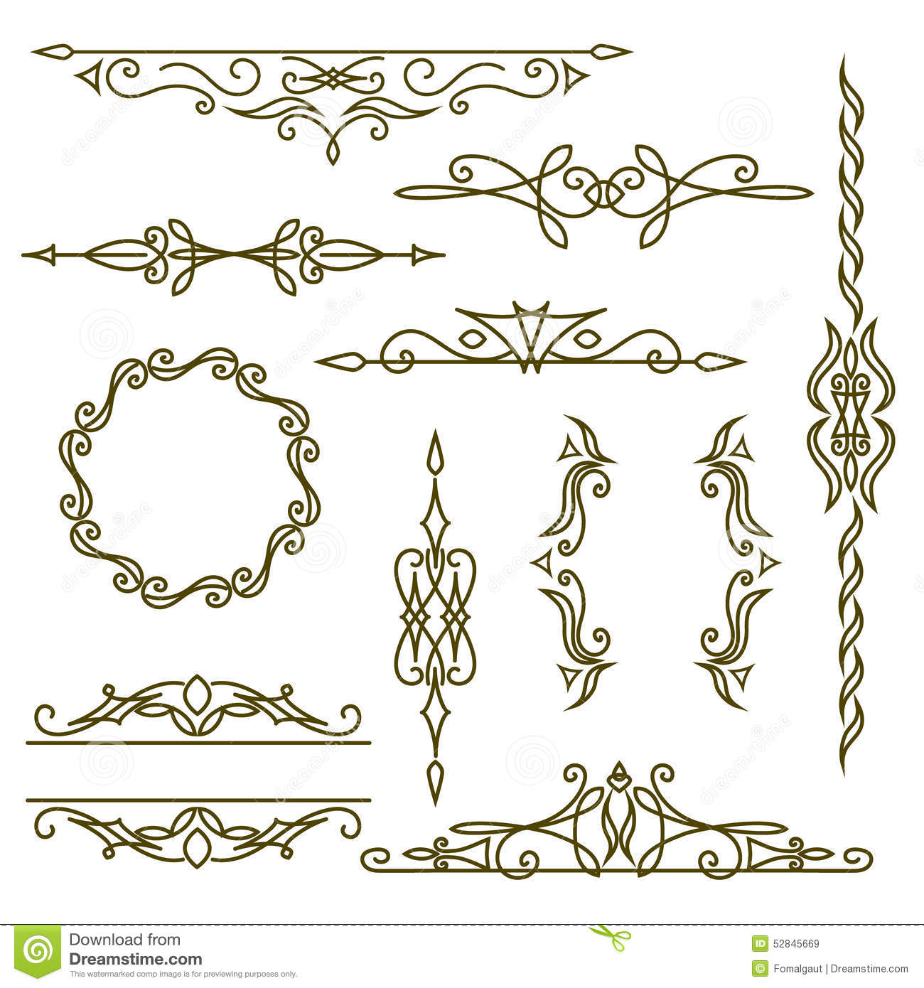 Frame Design Line Art : Monogram design elements graceful template elegant line