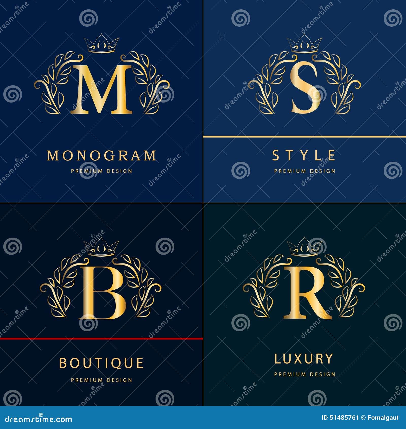 M Bel monogram design elements graceful template line logo design letter b m s r